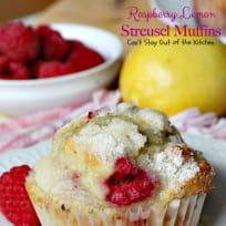 Raspberry Lemon Streusel Muffins