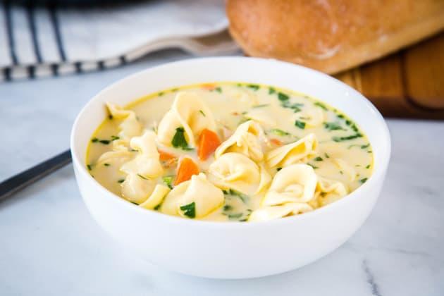 Creamy Chicken Tortellini Soup Photo
