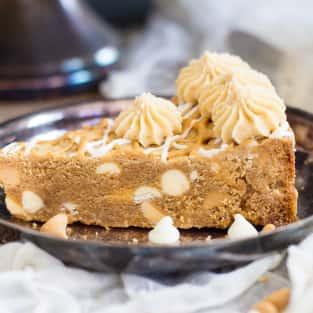 White chocolate peanut butter blondies photo