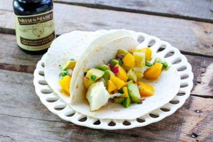 Fish Tacos with Tropical Vanilla Salsa