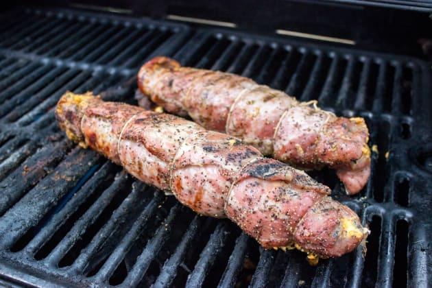 Bacon Wrapped Stuffed Pork Tenderloin Image