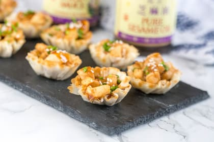 Hoisin Glazed Chicken Cups for the Holidays