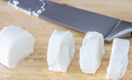 Sliced Goat Cheese Photo