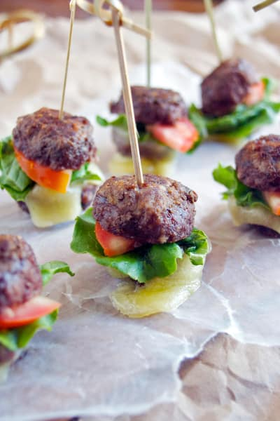 Meatball Sandwiches on a Stick Picture