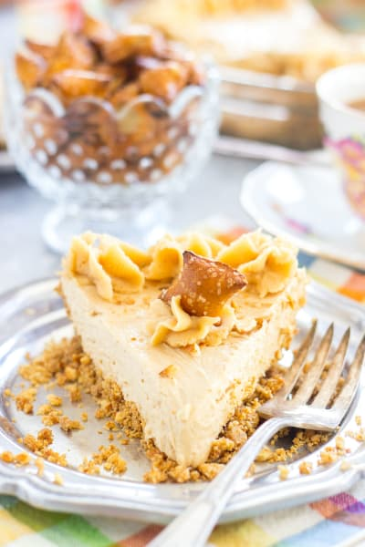 Peanut Butter Pie with Pretzel Crust Picture