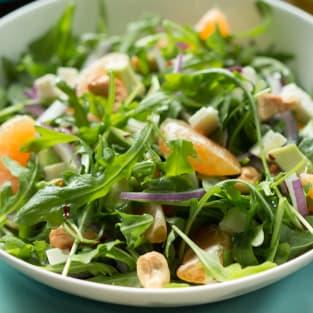 Clementine arugula salad photo