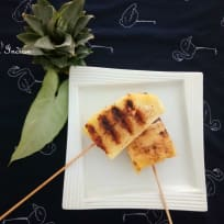 Grilled pineapple - spicy and sweet