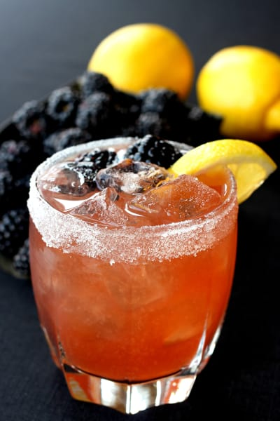 Blackberry Whiskey Sour Image