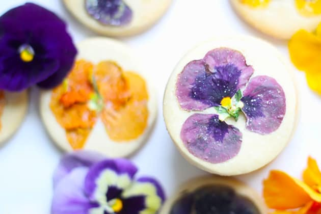 File 6 - Orange Cookies with Edible Flowers