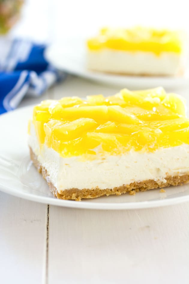 No-Bake Pineapple Cheesecake Bars Image