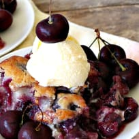 Old-Fashioned Cherry Cobbler