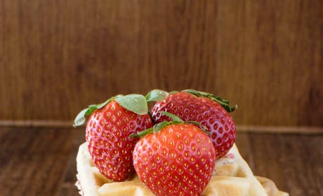 Homemade Strawberry Waffles Picture