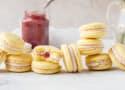 Rhubarb Lemon Macarons