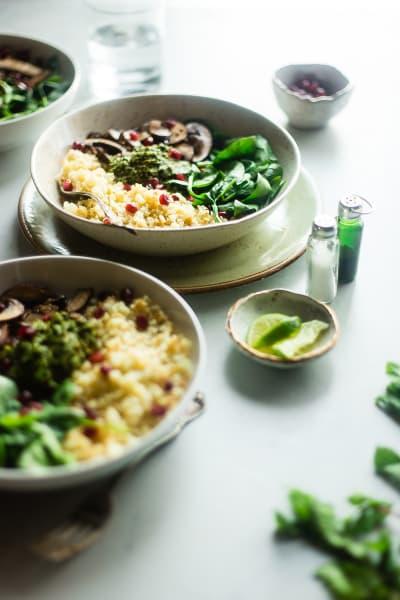 Detox Cauliflower Mushroom Bowls Pic