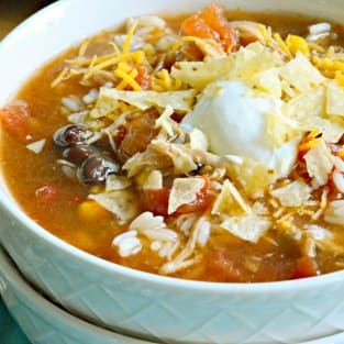 Slow cooker chicken enchilada soup photo