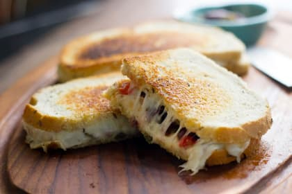 Muffuletta Grilled Cheese