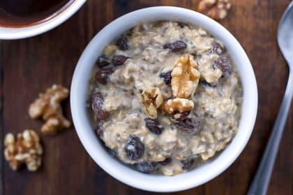 Gluten Free Oatmeal Raisin Overnight Oats