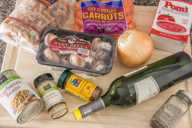 Meatless Chickpea Ragu Ingredients Photo