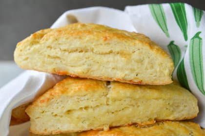 Garlic Herb and Cheddar Scones
