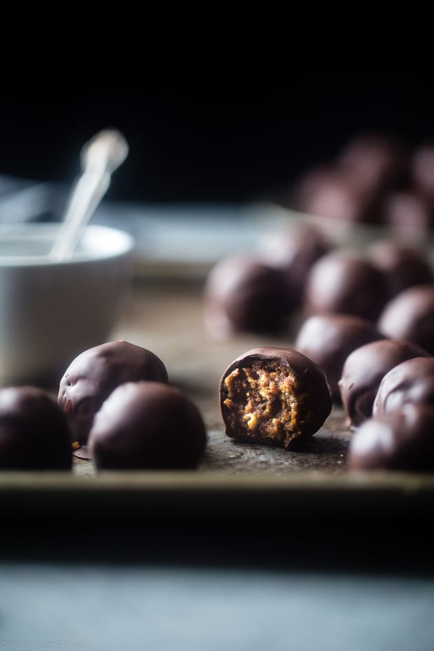 No Bake Crispy Almond Butter Chocolate Bites Image