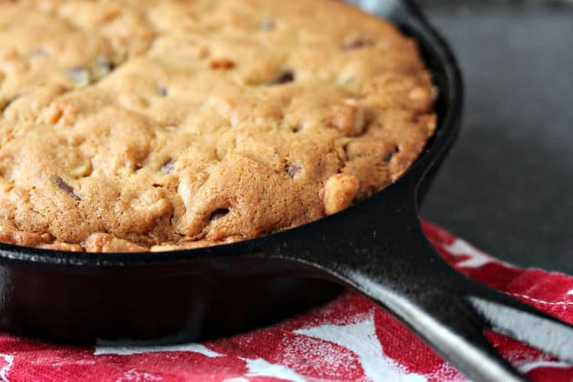 Chocolate Peanut Butter Skillet Cookie Photo