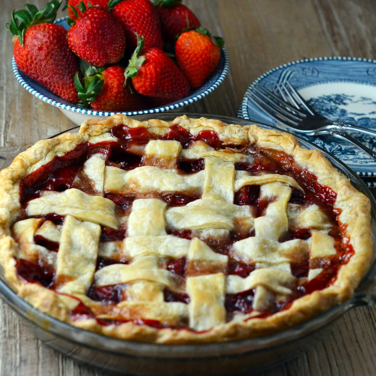 Baked Strawberry Pie Recipe Food Fanatic