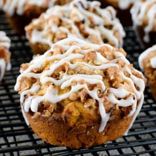 Pumpkin banana streusel muffins photo