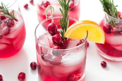 Cranberry Orange Bourbon Smash