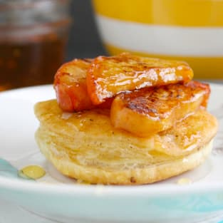 Grilled peach puffs photo