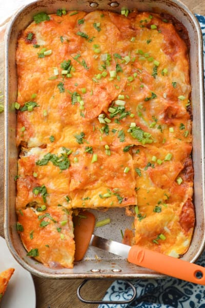 Enchilada Breakfast Casserole Picture