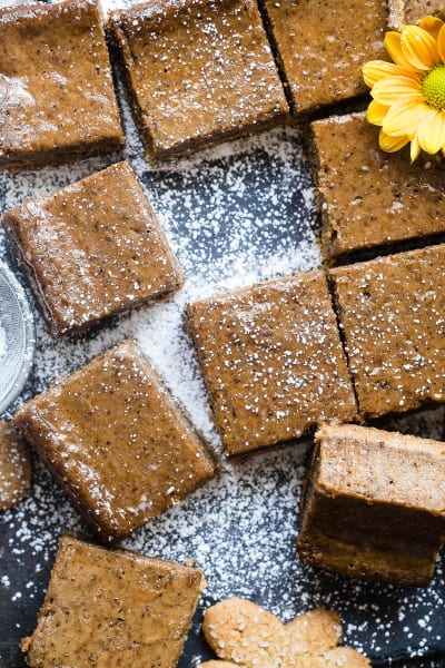 Gingerbread Coffee Vegan Cheesecake Bars Picture