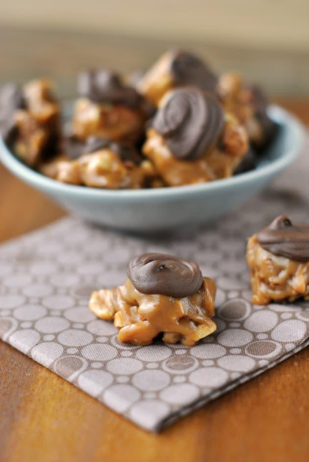 Caramel Chocolate Peanut Brittle Recipe