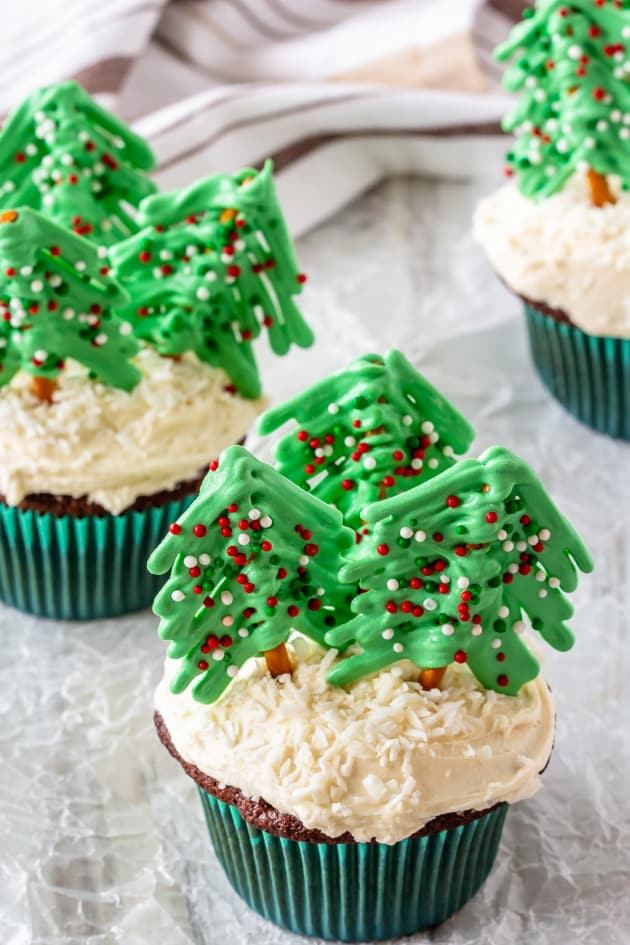 Christmas Tree Cupcakes Picture