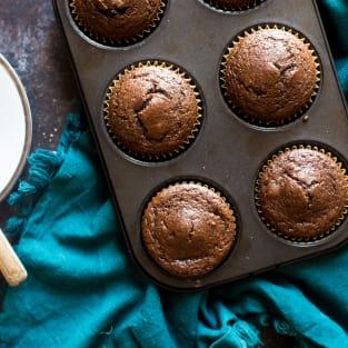 Paleo chocolate maple tahini muffins photo