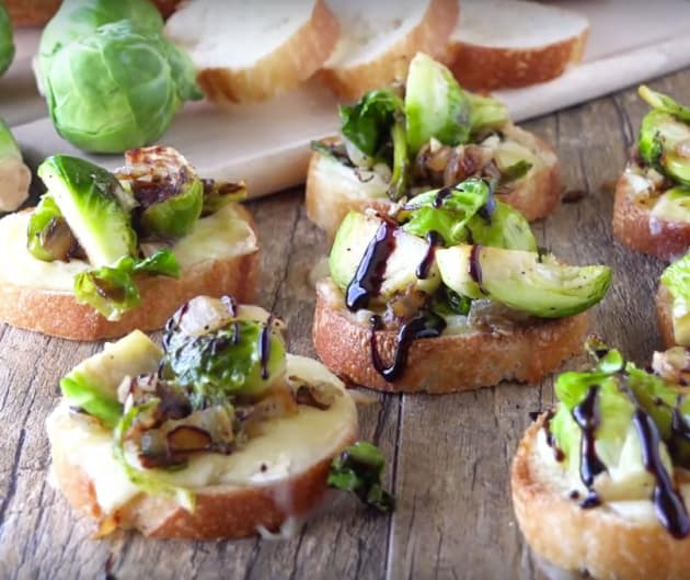 Brussel Sprout and Brie Bruschetta