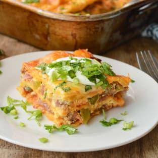 Enchilada breakfast casserole photo