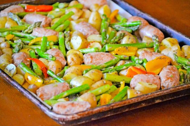 Sausage Sheet Pan Dinner Photo