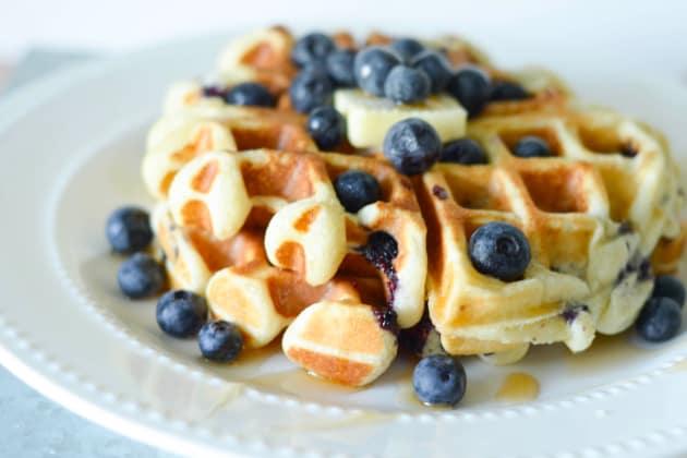 Gluten Free Blueberry Waffles Pic