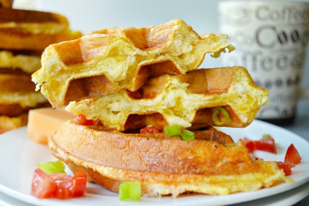 Egg and Cheese Waffle Sandwiches Picture