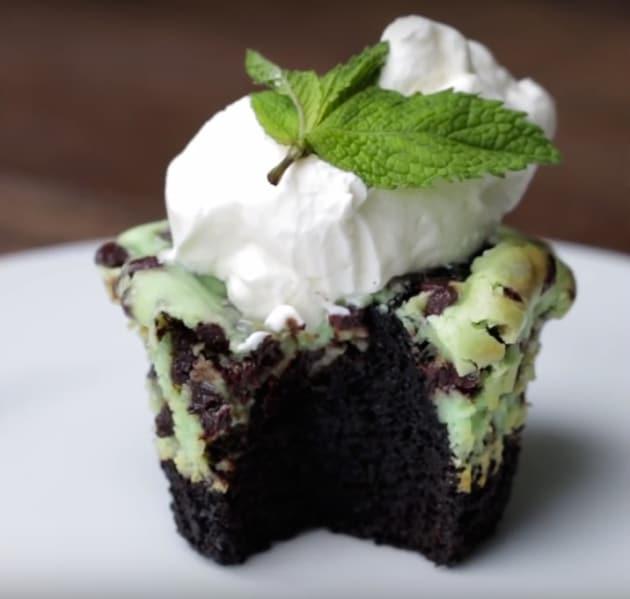 Mint Chocolate Chip Cheesecake Brownie