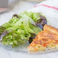 Roasted Red Pepper Quiche Recipe