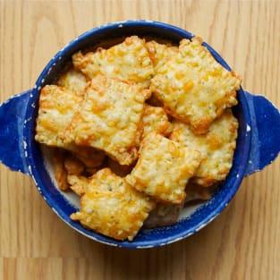 Homemade cheese crackers photo