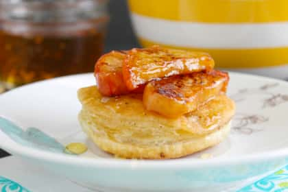 Grilled Peach Puffs