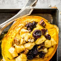 Cranberry Apple Stuffed Acorn Squash Recipe