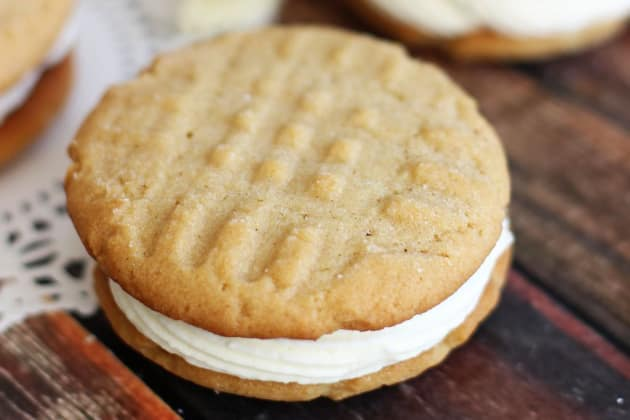 Peanut Butter White Chocolate Sandwich Cookies Photo
