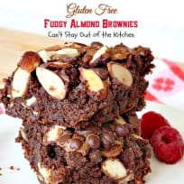 Gluten Free Fudgy Almond Brownies