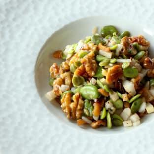 Fava bean salad photo