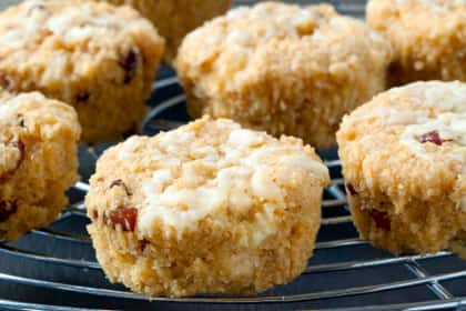 Gluten Free Cornbread Muffins with Cheddar and Bacon