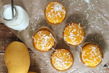 Gluten Free Mango Coconut Muffakes