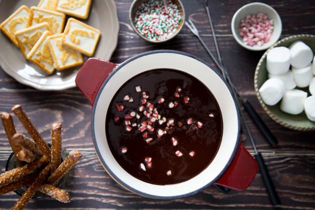 Chocolate Peppermint Fondue Photo